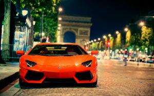 Car Wallpaper-orange