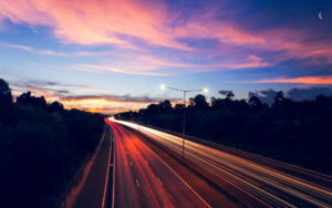 Highway Traffic Lights Long-wallpaper desktop