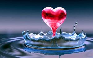 Nice Wallpapers-water-heart-flowerdrop