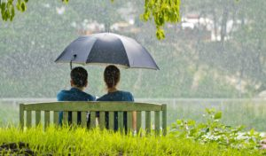 Romantic-couple-sitting-in-park-free wallpaper