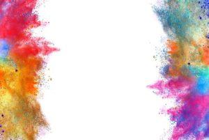White Background-colored-powder-white-background-isolated