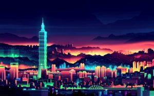 vaporwave wallpapers-city